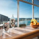 Blick aus der Küche auf die Lyall Bay